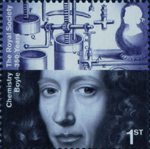 The Royal Society 1st Stamp (2010) Robert Boyle, Chemistry