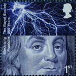 The Royal Society 1st Stamp (2010) Benjamin Franklin, Electricity