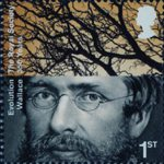 The Royal Society 1st Stamp (2010) Alfred Russel Wallace, Evolution