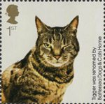 Battersea Dogs and Cats 1st Stamp (2010) Tigger