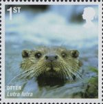 Mammals (Action for Species 4) 1st Stamp (2010) Otter