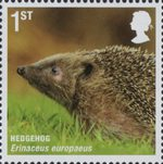 Mammals (Action for Species 4) 1st Stamp (2010) Hedgehog