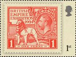 London 2010 Festival of Stamps : The Kings Stamps 1st Stamp (2010) British Empire Exhibition 1d