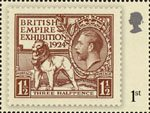 London 2010 Festival of Stamps : The Kings Stamps 1st Stamp (2010) British Empire Exhibition 1 1/2d