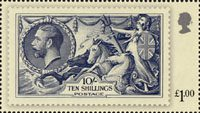 London 2010 Festival of Stamps : The Kings Stamps �1 Stamp (2010) Seahorse Definitive �1