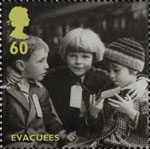 Britain Alone 60p Stamp (2010) Evacuees
