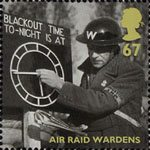 Britain Alone 67p Stamp (2010) Air Raid Wardens