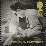 Britain Alone 67p Stamp (2010) Women in Factories