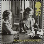 Britain Alone 97p Stamp (2010) Royal Broadcast