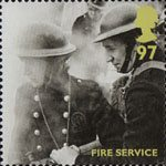 Britain Alone 97p Stamp (2010) Fire Service