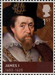 House of Stuart 1st Stamp (2010) James I