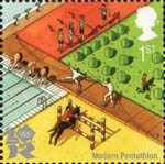 2012 Olympic and Paralympic Games 1st Stamp (2010) Modern Penthahalon