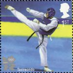 2012 Olympic and Paralympic Games 1st Stamp (2010) Taekwondo