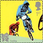 2012 Olympic and Paralympic Games 1st Stamp (2010) Cycling