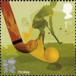 2012 Olympic and Paralympic Games 1st Stamp (2010) Hockey