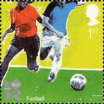 2012 Olympic and Paralympic Games 1st Stamp (2010) Football