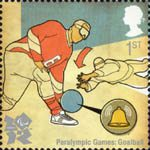 2012 Olympic and Paralympic Games 1st Stamp (2010) Paralympic Games Goalball