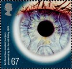 Medical Breakthroughs 67p Stamp (2010) Artificial lens implant surgery pioneered by Sir Harold Ridley 1949