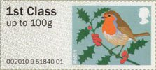Pictorial Post & Go - Birds of Britain I 1st Stamp (2010) Robin