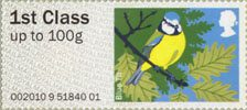 Pictorial Post & Go - Birds of Britain I 1st Stamp (2010) Blue Tit