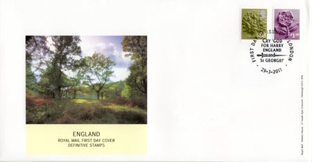 2011 Regional First Day Cover from Collect GB Stamps