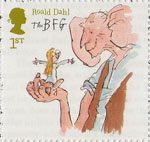Roald Dahl 1st Stamp (2012) The BFG and Sophie