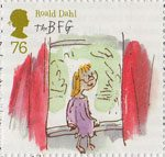 Roald Dahl 76p Stamp (2012) Sophie on the Queen's Window-Sill