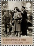 The House of Windsor 68p Stamp (2012) Second World War 1929-1945