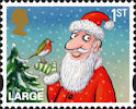 Christmas 2012 1st Large Stamp (2012) Father Christmas and Robin