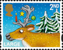 Christmas 2012 2nd Large Stamp (2012) Reindeer