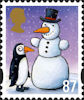Christmas 2012 87p Stamp (2012) Penguin and Snowman