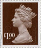 Definitives - Revised Colours £1 Stamp (2013) £1.00 Wood