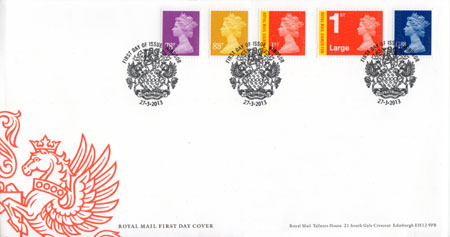 2013 Definitive First Day Cover from Collect GB Stamps
