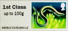 Post & Go: Lakes - Freshwater Life 2 1st Stamp (2013) European Eel