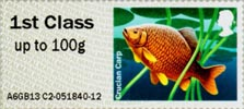 Post & Go: Lakes - Freshwater Life 2 1st Stamp (2013) Crucian Carp