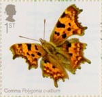 Butterflies 1st Stamp (2013) Comma