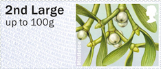 Post & Go: Winter Greenery - British Flora 3 1st Stamp (2014) Mistletoe