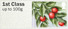 Post & Go: Winter Greenery - British Flora 3 1st Stamp (2014) Butcher's Broom