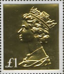 Machin Definitive Anniversary £1 Stamp (2017) Gold