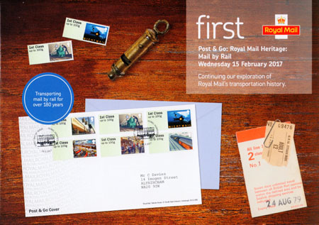 Post & Go : Royal Mail Heritage : Mail by Rail (2017)