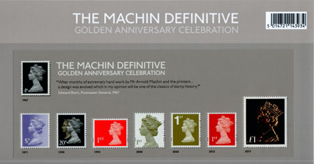 Machin Definitive Anniversary (2017)