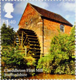 Windmills and Watermills £1.40 Stamp (2017) Cheddleton Flint Mill, Staffordshire