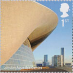 Landmark Buildings 1st Stamp (2017) London Aquatics Centre