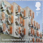 Landmark Buildings 1st Stamp (2017) Scottish Parliament, Edinburgh