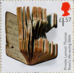 First World War 1917 £1.57 Stamp (2017) Private Lemuel Thomas Rees's Life-saving Bible