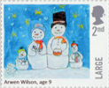 Christmas 2017 2nd Large Stamp (2017) Arwen Wilson - Snowmen