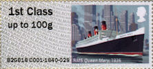 Post & Go : Royal Mail Heritage : Mail by Sea 1st Stamp (2018) RMS Queen Mary, 1936