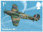 The RAF Centenary 1st Stamp (2018) Hurricane Mk 1
