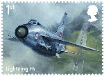 The RAF Centenary 1st Stamp (2018) Lightning F6