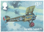 The RAF Centenary £1.57 Stamp (2018) Sopwith Camel F1